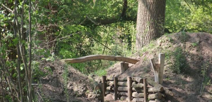 Reconstructie Landweer op landgoed Weleveld